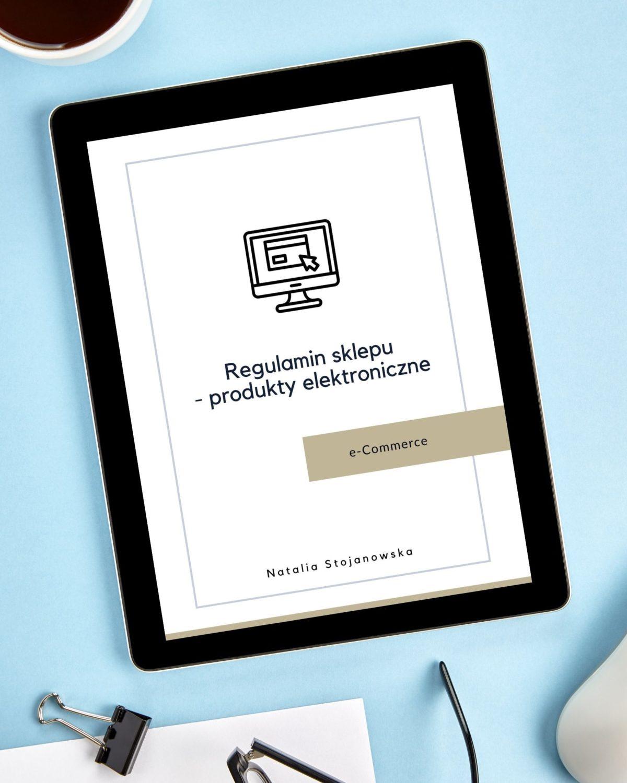 Regulamin sklepu online - produkt elektroniczny